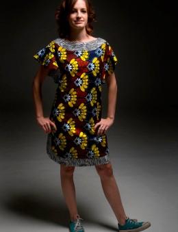 Vestido com manga